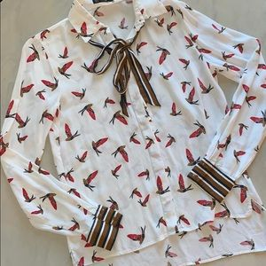 *ZARA* Bird Blouse